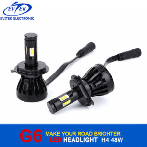 H13 H7 H11 H4 9005 9006 Philips G6 LED Headlight 48W 4800lm for Motorcycle Headlight Bulb pictures & photos