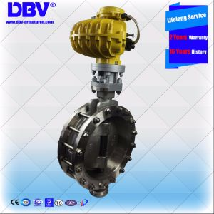 Industrial Dn400 CF8 Hydraulic Triple Offset Flange Butterfly Valve