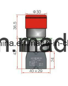 22mm 6-380V Emergency-Mushroom Type Push Button Switch pictures & photos