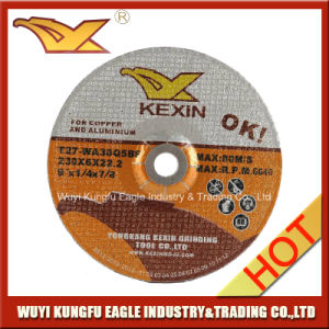 Depressed Centre Grinding Wheel for Copper and Aluminium (230X6X22.2mm) pictures & photos
