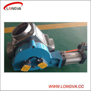 Sanitary Stainless Steel Pneumatic Plug Diverter Valve pictures & photos