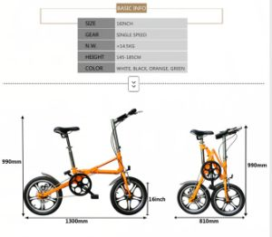 16 Inch Bicycle Hendrix Folding Bike pictures & photos