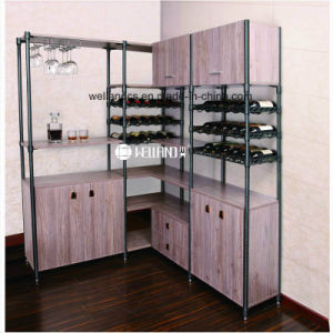 Modern Design Wine Storage Epoxy Steel-Wooden Furniture pictures & photos