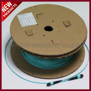 100G 24F Array Fiber Optic MPO OM3 Trunk Patch Cable pictures & photos