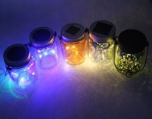 2017 Hot Selling Summer Gift Blink Colorful Solar LED Mason Jar for Garden Reflection pictures & photos