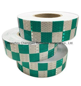 PVC Yellow and Black Chequer Reflective Safety Warning Tape (C3500-G) pictures & photos