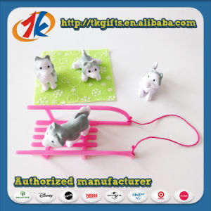 Funny Mini Cute Dog with Sleigh Set Toys pictures & photos