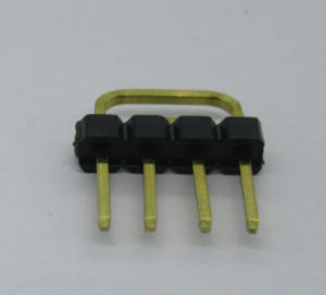 2.54mm Pin Header Single Row U Type, 4p pictures & photos