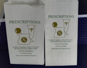 FDA Certificated White Kraft High Quality Handmade Custom Pharmacy Paper Bag pictures & photos