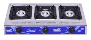 Portable Gas Cooker, Stainless Steel, Three Burners pictures & photos