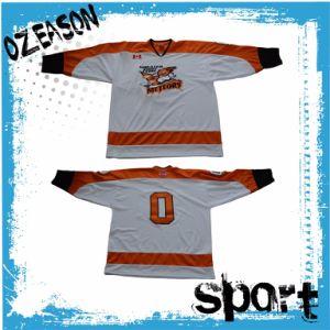 Design Custom Logo Embroidery Kids Hockey Jerseys (H005) pictures & photos