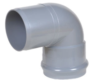 PVC Fitting Faucet Elbow 45 Deg with Rubber Ring Joint pictures & photos