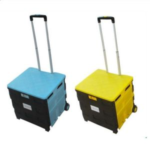 Durable Plastic Folding Shopping Basket pictures & photos