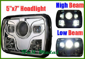 "5""X 7"" Square LED Headlamps for Trucks 4X4 for Jeep pictures & photos"