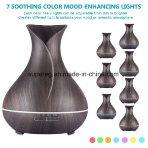 Vase Shape 400ml Ultrasonic Cool Mist Colorful Lights Adjustable Aroma Diffuser pictures & photos