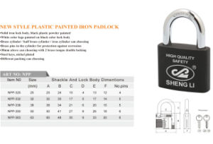 New Style Plastic Painted Iron Padlock Logo Customize pictures & photos