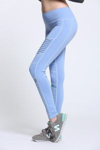 Fashion Pleated Custom Blue Color Wholesale Women Compression Tight pictures & photos
