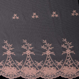 Scalloped Edged Tulle Nylon Net Lace Fabric pictures & photos