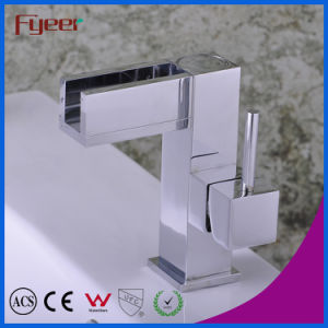Fyeer Chrome Plated Spanner Syle Single Handle Brass Deck Mounted Bathroom Basin Faucet Water Mixer Tap Wasserhahn pictures & photos