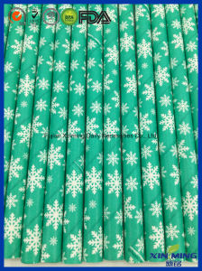 Party Decoration, Lime Green with Snow Fall Paper Straw pictures & photos