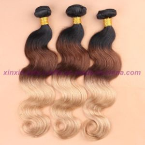 Blonde Weave Bundles Indian Ombre Human Hair Three Tones Ombre Hair Body Wave with 2, 3 or 4 Bundles pictures & photos