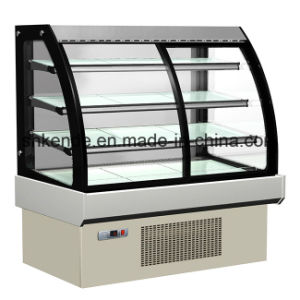 Commercial Refrigerated Cake Showcase with Curved Glass pictures & photos