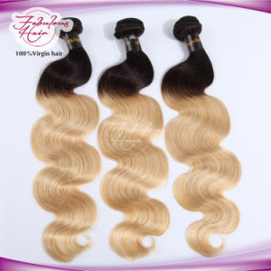 8A Ombre Blonde Human Remy Hair 613# Color Body Wave Hair pictures & photos