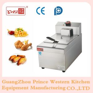 Stainless Steel Electric Deep Fryer with 1-Tank 1-Basket for Frying Food Machine pictures & photos