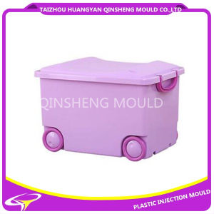 Plastic PP Basket China Mould with Wheel pictures & photos