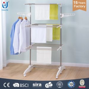 Three Layer Foldable Garment Rack pictures & photos