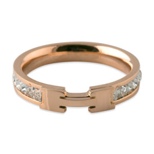 Women Jewelry Personalized Rose Gold Diamond Fashion Ring pictures & photos