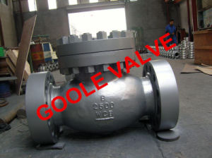 150lb/300lb/600lb/900lb/1500lb Flanged End Swing Check Valve (GAH44H) pictures & photos