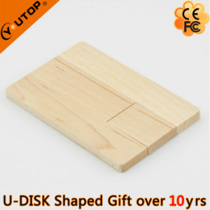 Swivel/Rotating Wooden Card USB Pendrive for Gift (YT-3132) pictures & photos
