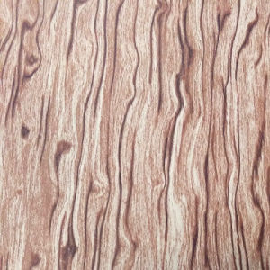 Wood Pattern Faux Leather for Shoes or Bags (HS-M247) pictures & photos