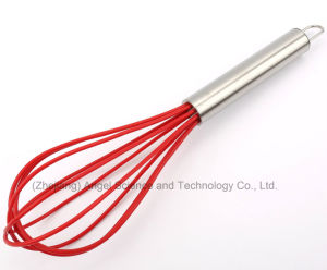 Silicone Hand Mixer for Egg with Stainless Steel Handle for Holiday Se01 (10 Inch) pictures & photos