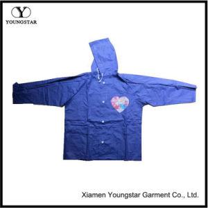 PVC Coating Waterproof Children Rain Jacket / Rain Cape pictures & photos