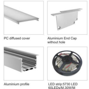 J6535-D LED Aluminum Profile with Strip Bar for Linear Light pictures & photos