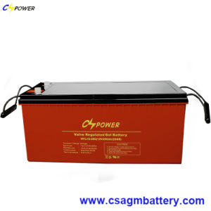 High Temperature Deep Cycle Solar Gel Battery 12V200ah with 20years Longer Life pictures & photos