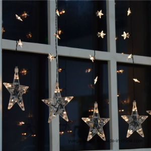 Ce&RoHS Approved 1m60LED Curtain Light with Star for Home/Christmas/Wedding Decoration pictures & photos