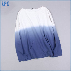 Long Sleeve Gradient Changing Colour T-Shirt for Men pictures & photos