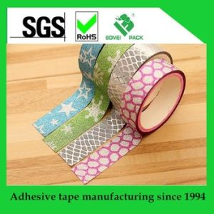 Custom Design Printed Washy Glitter Hologram Tape Colorful Tape pictures & photos