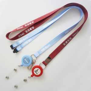 Custom Printed Polyester Lanyards with Roller Clip pictures & photos