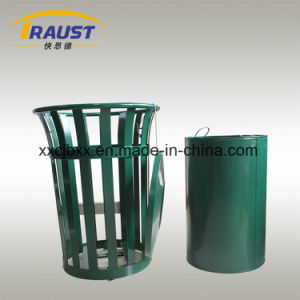 America Style Steel Material Round Rubbish Bin for Garden pictures & photos