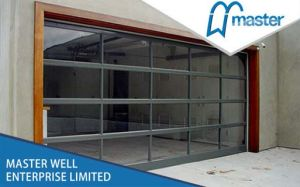 Automatic Gate with Glass Panel/ Remote Control Aluminum Door with Glass Panel pictures & photos