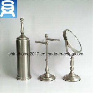 Hotel Usage Bathroom Accessory Set Vanity Mirror Brush Holder and Towel Holder pictures & photos
