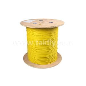 Gjdfjv Flat Cable Indoor Single Mode Optic Fiber Cable pictures & photos