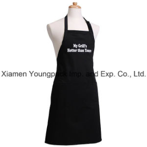 White 100% Organic Cotton Canvas Kitchen Cooking Apron for Women pictures & photos