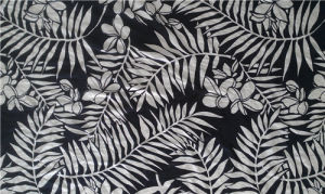 Printed Silk Habotai in Big Leaf Patter pictures & photos