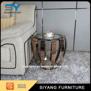 Living Room Furniture Stainless Steel Frame Side Table pictures & photos