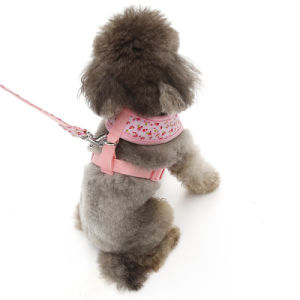 Pet Japan and South Korea Floral Small Dog Harness pictures & photos